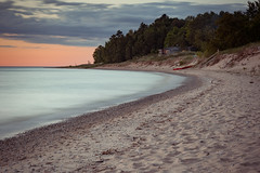 Living Long At Christmas Cove (matthewkaz) Tags: christmascove christmascovebeach beach sand lakemichigan greatlakes lakewater longexposure house home trees sky clouds sunset leelanau leelanaupeninsula puremichigan michigan northport summer 2017