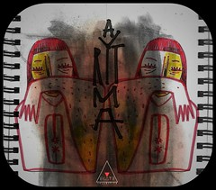 ARTMA X EK4T3 (EK4T3 COLLECTIVE) Tags: ek4t3 hypnosiswave artma specular parallel abstract drawing sketch experimental collaboration italy triangle woman portrait weird symmetry red black white book note logo face sad collage disegno art materiaobscura