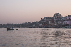 Varanasi - Ganges River - boat ghats