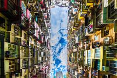 Colourful Architecture - Hongkong 76/188 (*Capture the Moment*) Tags: 2017 architektur balconies balkone colours condominium courtyard estate fenster flats fotowalk hauses hochhäuser hongkong houses häuser innenhof intothesky sky skyscraper sonya7m2 sonya7mii sonya7mark2 sonya7ii sonyfe1635mmf4zaoss sonyfe41635 sonyilce7m2 vintage windows wohnungen farbig indenhimmel urbanliving