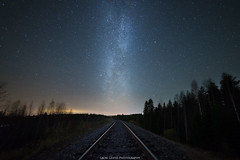 Railroad to Milkyway (laurilehtophotography) Tags: d610 kuohu linnunrata nikon samyang14mm syksy suomi finland jyväskylä milkyway stars star night cold windy astrophotography railroad landscape nightscape awesome sky europe autumn fall longexposure exposureblend