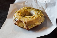 Delicious Lemon Donut (marcocarag) Tags: food donut cafe newmexico albuquerque