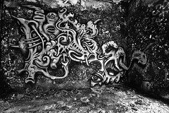 Nosbé (HBA_JIJO) Tags: streetart urban graffiti art france hbajijo wall mur painting aerosol peinture graff friche nosbé murale monster abandoned spray urbex monstro bombing urbain paris91 monstre creature monochrome noiretblanc black white