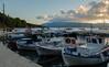Line of Greek Fishing Boats in Polis Harbour - Ithaca - Greece (Panasonic Lumix LX15 Compact) (1 of 1) (markdbaynham) Tags: ithaca ithaka ionian island greek greece polis harbour grecia greka gr 1 1inch 20mp panasonic lumix lumixer lx dmclx dmclx15 lx1015 compact hellas hellenic