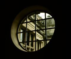 Windows Through Windows (Steve Taylor (Photography)) Tags: architecture black brown monocolor monocolour uk gb england greatbritain unitedkingdom london round lines elthampalace heritage eltham