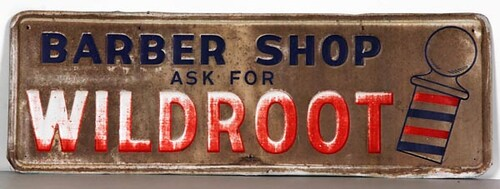 Wildroot Barber Shop Sign ($291.20)