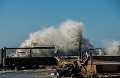 Mareggiata (pierluigi.carrano) Tags: mare sea pier molo onda wave coastalstorm mareggiata nikon d3100 iamnikon iamdifferent statua statue