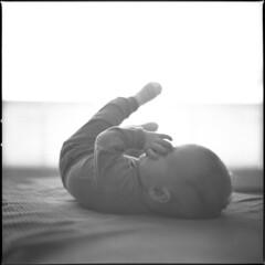 vilma (cornaile) Tags: hasselblad 500cm carlzeiss mediumformat analog film selfdeveloped ilford portrait baby