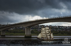 clipper (kapper22) Tags: boat photoshop river sails sky bridge barnstaple fun manipulation