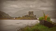 Weather Watching.. (Harleynik Rides Again.) Tags: eileandonancastle dreich weather highlands scotland dornie loch boat harleynikridesagain explore inexplore