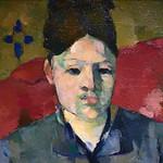 CEZANNE,1877 - Madame Cézanne à la Jupe rayée (Boston) - Detail 37 thumbnail