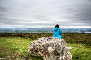 Knocknarea. County Sligo. Meadows from Ireland.