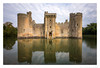 Bodiam Castle, Sussex (don't count the pixels) Tags: sussex bodiamcastle bodiam castle water moat reflection ngc longexposure slowshutterspeed ndfilter bwfilters movement capturingmovement clouds movingclouds