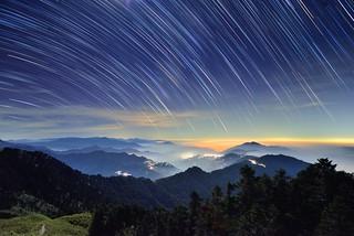 Star trails, Mountain Hehuan