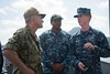 U.S. 7th Fleet Commander visits Sasebo based ships (SurfaceWarriors) Tags: 7thfleet c7f ctf76 japan mcm7 sasebo minesweeper