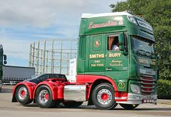 TV018119-Manchester. (day 192) Tags: manchester manchestercityfootballclub mcfc etihadstadium greatnorthwesttruckshow truckshow transportrally transportshow lorries lorry truck wagon daf xf dafxf smiths smithsofbury dg17kbu