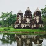 Phra Prang Sam Yot replica from the Khmer era in Mueang Boran, Samut Phrakan, Thailand thumbnail