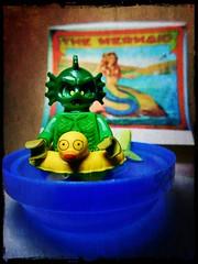 The Mermaid (LegoKlyph) Tags: lego custom mermaid freak circus silly water wet block brick mini figure horror sideshow mutant green fish