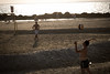 The last days of the summer ... (michlevts) Tags: summer beach playing ball volleyball man throwing rocks sand hit sport