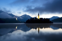The Lake In Bled (JH Images.co.uk) Tags: lake bled lakebled water reflection hdr dri morning church island slovenia art architecture mountains mountain