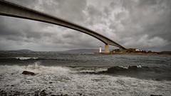 Skyeway.. (Harleynik Rides Again.) Tags: bridge isleofskye storm sea loch weather cloudporn highlands scotland harleynikridesagain eileanban lighthouse
