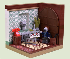 """""""Don't Forget To Put The Kitty Out Darling"""" (MinifigNick) Tags: zombie zombies kitty lego afol minfignick minifig"""