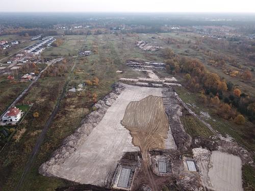 Budowa S2 na wschód znad Węzła Wał Miedzeszyński (05.11.2017)
