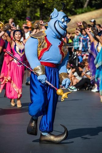 Genie in Mickey's Soundsational Parade - Disneyland
