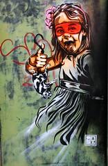Street art, ville de Quimper (Bretagne, Finistère, France) (bobroy20) Tags: tag dessin art streetart graphisme enfant visage langue quimper ville city bretagne finistère paysdecornouaille cornouaille