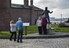 Billy Fury and fans, Liverpool (Trond Sollihaug) Tags: billyfury liverpool merseyside mersey england merseybeat albertdock pierhead statue sculpture tourists music