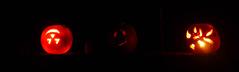 Influenced by Stranger Things (grongar) Tags: pumpkins jackolanterns november night
