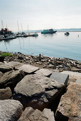 "Burlington (Peter Gutierrez) Tags: photo united states america american americana usa east eastern north northern northeastern northeast ""new england"" lake champlain vermont chittenden burlington coast coastal sea seaside lakeside water adirondacks mountain mountains harbor harbour boat boats marina sail sailing sailboat sailboats rock rocks rocky shoreline peter gutierrez ""peter gutierrez"" film photograph photography"