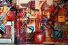 Lyon - Porte et mur peints. (Gilles Daligand) Tags: lyon rhone graffiti porte mur peint abstrait abstraction couleurs fujifilm s5pro