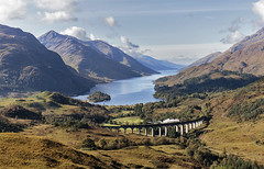Glenfinnan arches (EltonRoad) Tags: 62005 k1 jacobite steam train railway line glenfinnan viaduct loch shiel fortwilliam mallaig westhighlandline scotland westhighlands