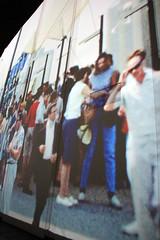 Bénéficiant Expo 67 (Enjoying Expo 67) (JB by the Sea) Tags: montreal montréal quebec québec canada september2017 urban publicart videoinstallation expo67live quartierdesspectacles placedesarts nationalfilmboardofcanada expo67