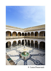 Casa de Pilatos, Seville (laura passavanti) Tags: casadepilatos casa pilatos home seville andalusia spain architecture landmark decorated statue marble azulejos moorish arches columns patio garden indoors exyterior courtyard building ceramic