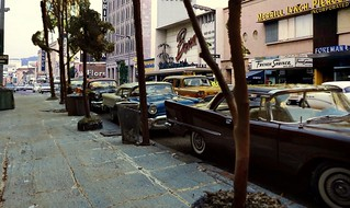 Downtown Streets 1965 Corner of Hollywood and Vine