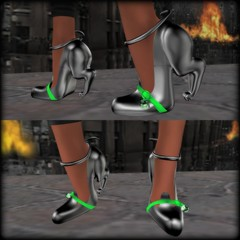 -MystRie- Black Cat Green Heel Collage (melyna.foxclaw) Tags: ~mystrie~ benefit charity foundation hoodie iheartslfeed michaeljfoxfoundation newrelease parkinsonsresearch secondlife teamfox thegothamislandevent villainess