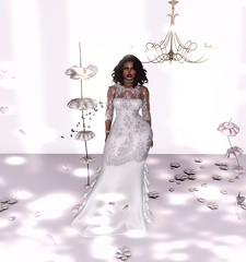 Wedding Whimsy Avi@Bootytrap (Serena Reins) Tags: posture pose poses catwa maitreya wedding dress fancy whimsy white flowers romantic posh natural bootytrap