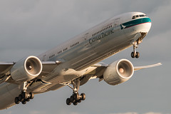 EGLL Heathrow // Cathay Pacific B777-300(ER) // B-KQT (planespottermd) Tags: london heathrow takeoff cathay pacific boeing 777 uk united kingdom plane spotting planespotting egll aviation airplane airport start 27r canon 70d europe europa england engine