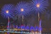 Fireworks (Cock Pheasant) Tags: fireworks merseygateway runcornbridge