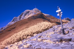 Giewont w podczerwieni (World In Infrared) Tags: giewont w podczerwieni infrared ir qbot kasprowy wierch zakopane góry tatry podczerwień krzyż tpn mountains