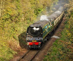 Great Central Railway Birstall Leicestershire 14th October 2017 (loose_grip_99) Tags: greatcentral railway railroad rail train birstall leicestershire eastmidlands england uk southern bulleid pacific 462 34081 92squadron preservation transportation gassteam uksteam trains railways steam engine locomotive midlands october 2017 battleofbritain