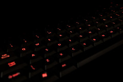 Illuminated ~ 268/365 2017 (joriks) Tags: 2017 365 key keyboard pc computer computers it red black letter letters words typo