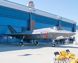 F-35A Parked Next to the Hangar Door
