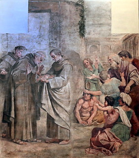 IMG_5065 Annibale Carracci. 1560-1609. Francesco Albani. 1578-1660. Domenichino ( 1581-1641) Le miracle des roses. The miracle of roses. 1605 Barcelone Museu Nacional d'Art de Catalunya (MNAC)
