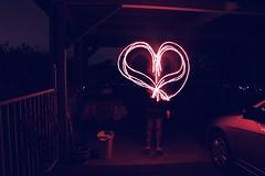 <3 (demetra.michaela) Tags: longexposition longexposure sparklers heart