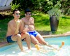 IMG_9501 (danimaniacs) Tags: shirtless man guy sexy hot swimmingpool bulge hat cap shorts swimsuit trunks