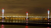 Mersey Gateway (Barrytaxi) Tags: widnes bridge toll towers night lowtide mersey river