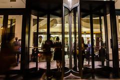 Corboy Law Center Evening Rush (Loyola University Chicago) Tags: basketball wtc em1507 corboy 2015 151008nightphotography0051jpg clc nightphotography autumn seasons fall buildings 10october2015 umcphotoarchive campus